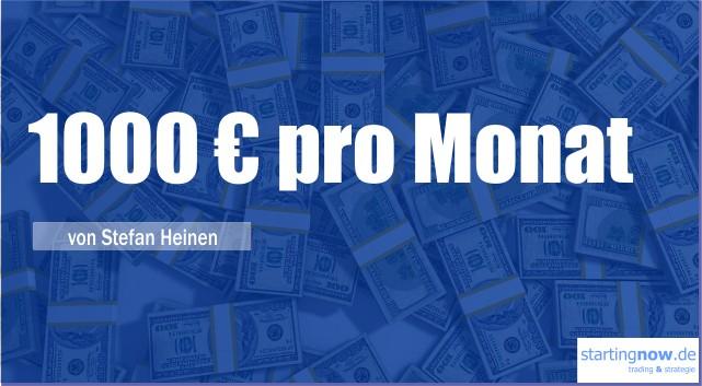 1000€ pro Monat
